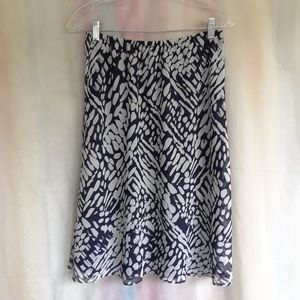 Drapers & Damons Blue & White Skirt